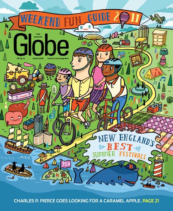 Boston globe illustrations on behance freerunsca Gallery