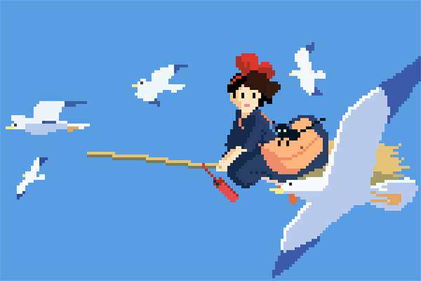 Studio Ghibli Hayao Miyazaki Pixel art 8bit 16bit anime 8bit Ghibli Ghibli Pixel Art