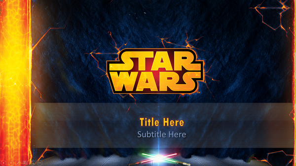 star wars powerpoint template on behance