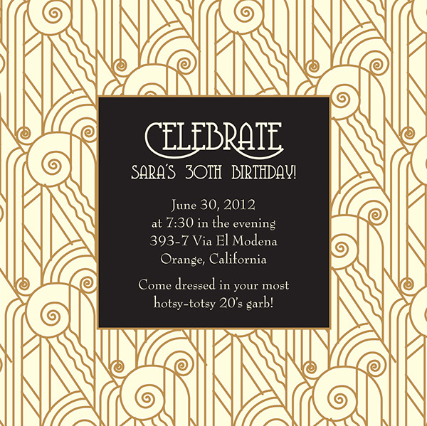 Great Gatsby Party Invitations is the best ideas you have to choose for invitation example