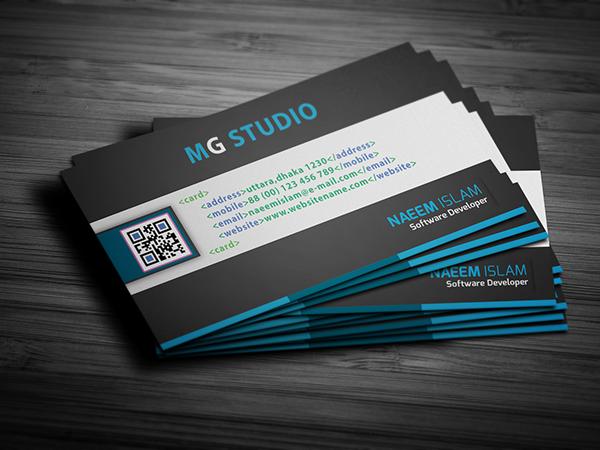 software developer business card on Behance