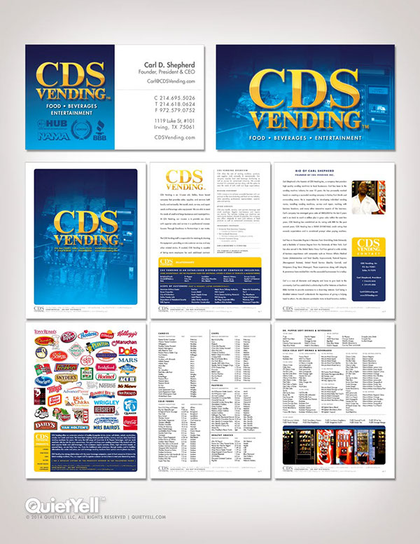 Cds vending business cards and sales sheets on behance colourmoves