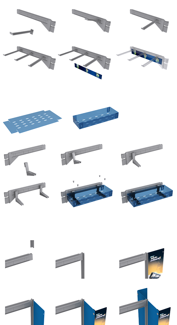 point-of-purchase retail display injection-moulding