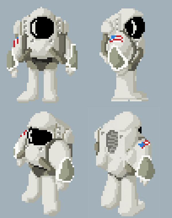 #pixel art  #astronaut #space #Puzzle