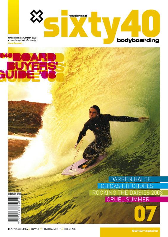 magazine Layout Sixty40 bodyboarding issue Surf waves