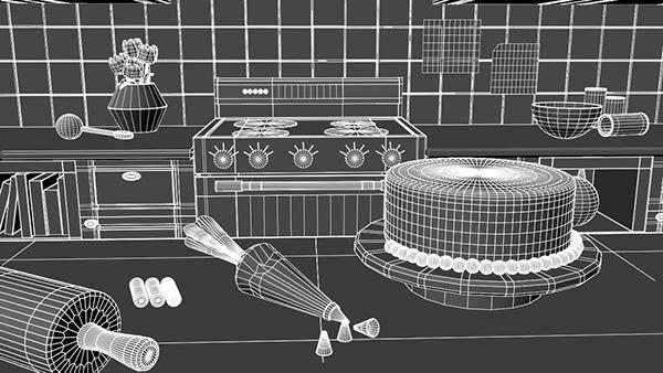 Kate's Kitchen - 3D Environment on SCAD Portfolios
