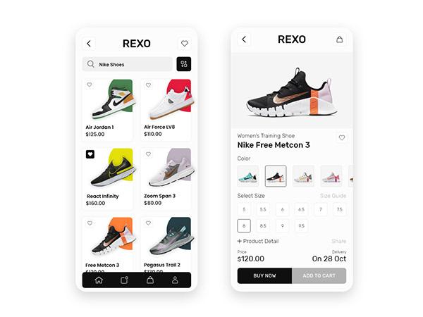Shoe Store App UI