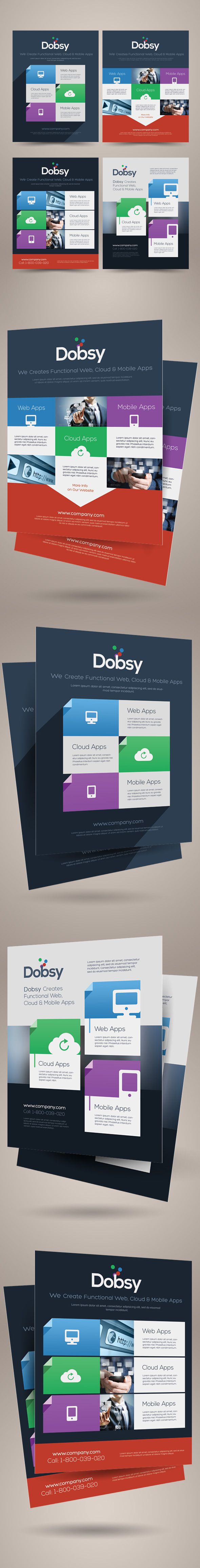 flat design style flyers on behance flat design style flyers are design templates created for on graphic river more info of the templates and how to get the template sourcefiles can be