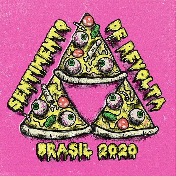 pizza feita de restos humanos escrito sentimento de revolta