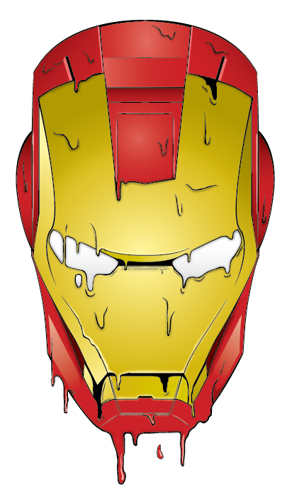 melting iron man mask - photo #16