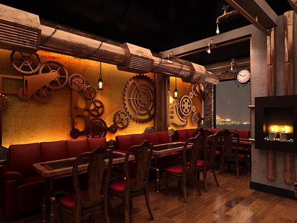 Chonas Steampunk Restaurant On Behance