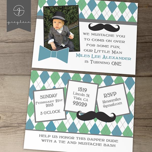 Little Man Birthday Party Invitations – Little Man Birthday Party Invitations
