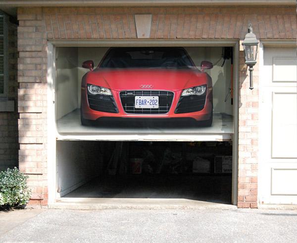 Audi R8 Garage Door Cover On Behance