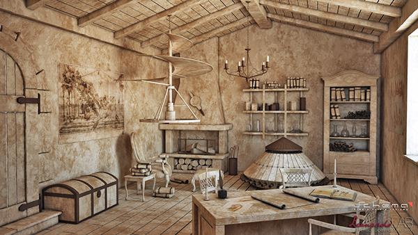 3d Reconstruction Of Leonardo Da Vincis Studio On Behance