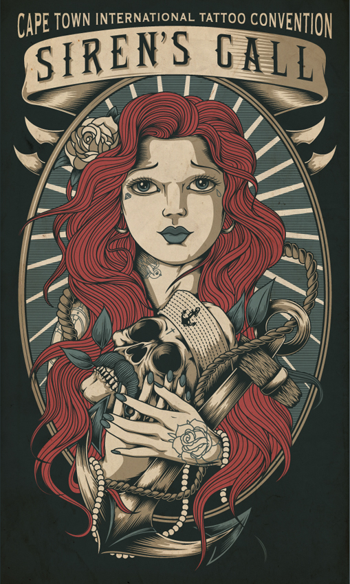 Cape tattoo expo 2013 on behance for Vintage tattoo art parlor