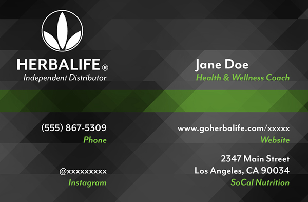 Herbalife Business Card on Behance