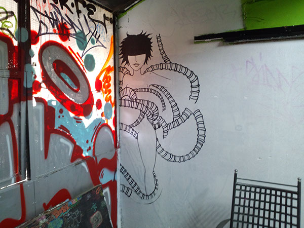 reverse-merman Mural