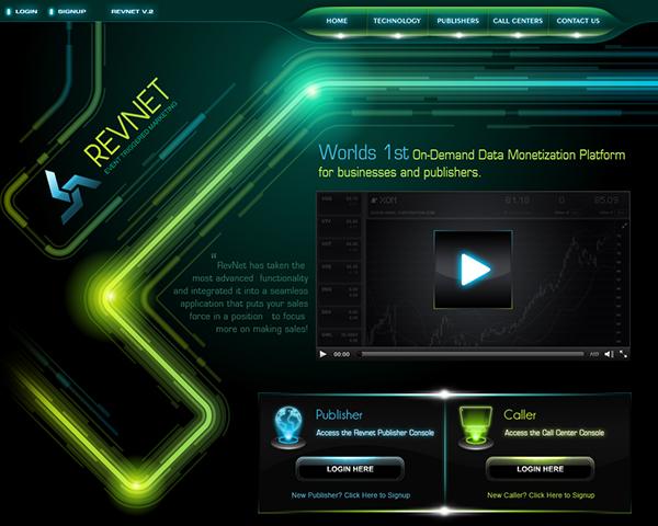 futuristic Technology hi-tech glowing business
