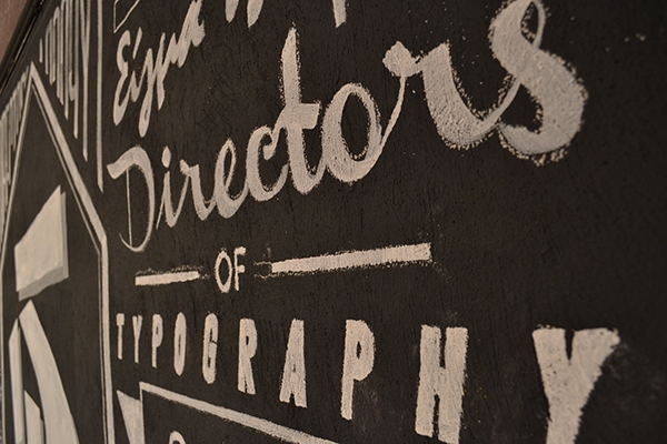 Directors of typography x sigma pi typographic mural on for Thank you mural