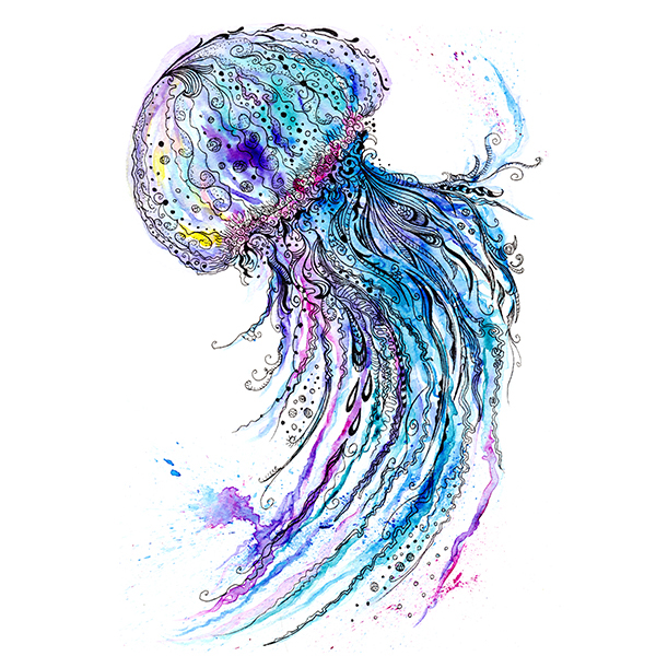 Sea Animals Watercolor And Ink On Behance