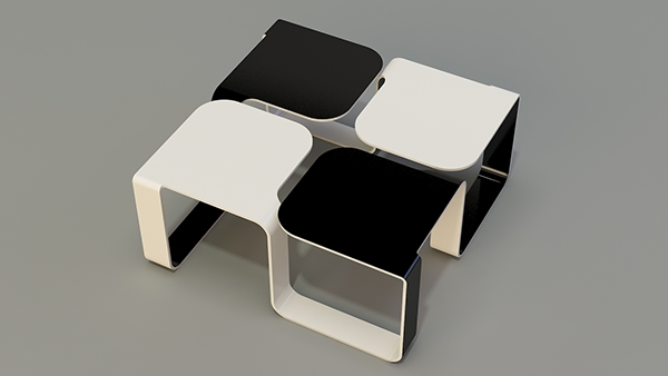 A Coffee Table Concept. The Item Is Part Of BULGARIA   Series Of Furniture.