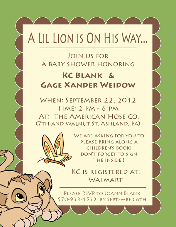 Baby Lion King Baby Shower Invitations with luxury invitation sample