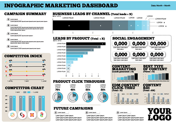 Infographic Marketing Dashboard On Behance