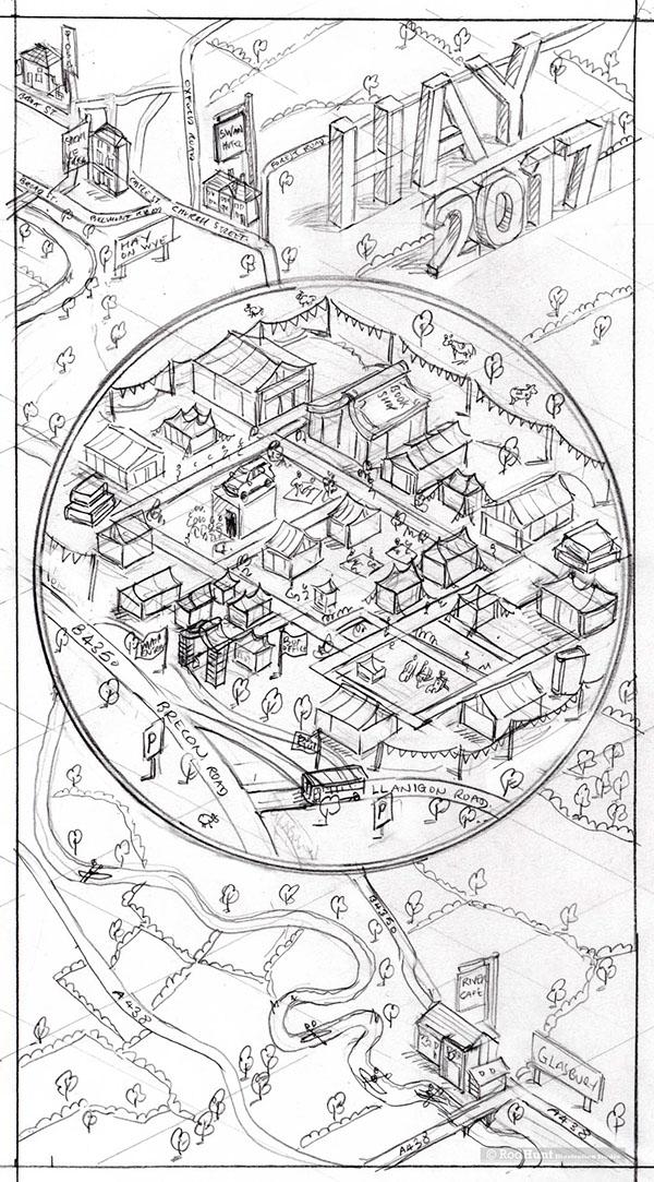 Hay Literary Festival Map Illustration GQ Magazine On