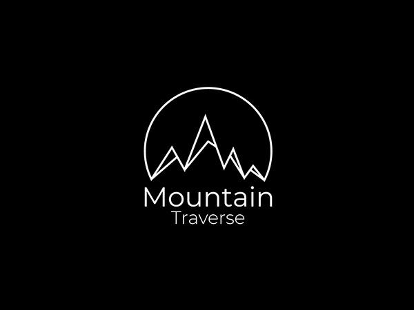 Minimalist Mountain Adventure Logo