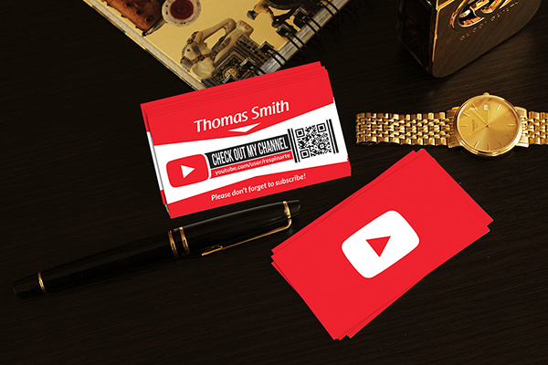 Free youtube business card template on behance get the free download here reheart Image collections