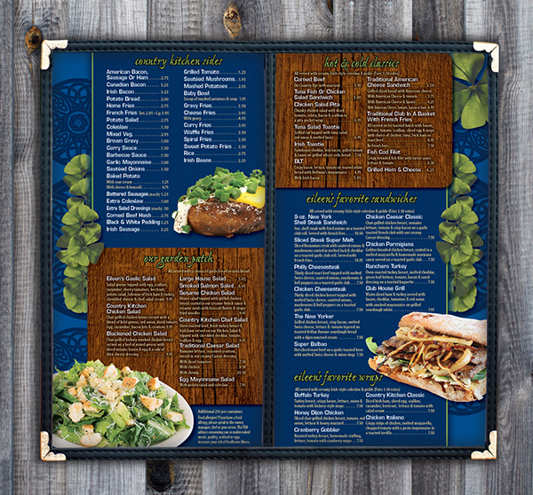 Eileen S Country Kitchen Menu On Behance Nutrition Cabinets
