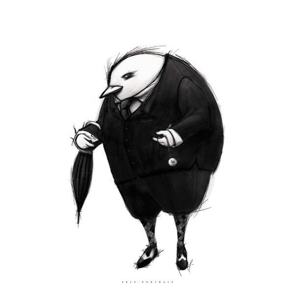 black & white Blackflood sketch Collaboration black and white Jeff Mendoza