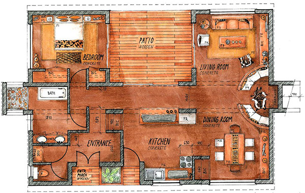 Ready Made House Rendering Plans Elevations On Behance