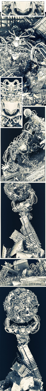 invasion robot mecha dj trash junk post apocalypse earth strip grung SF science fiction