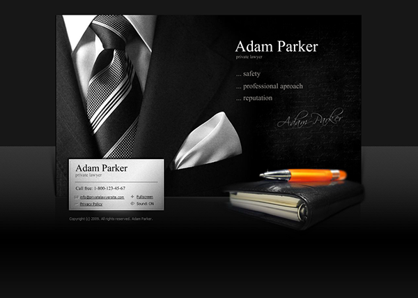 private lawyer dynamic flash template on behance