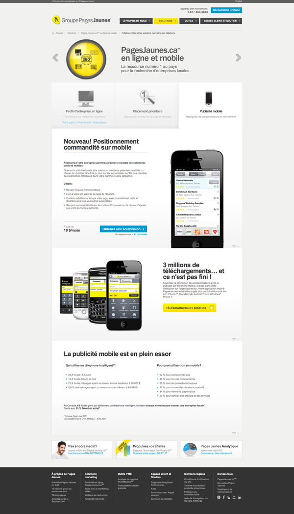 Pages Jaunes - Solution 360 on Behance