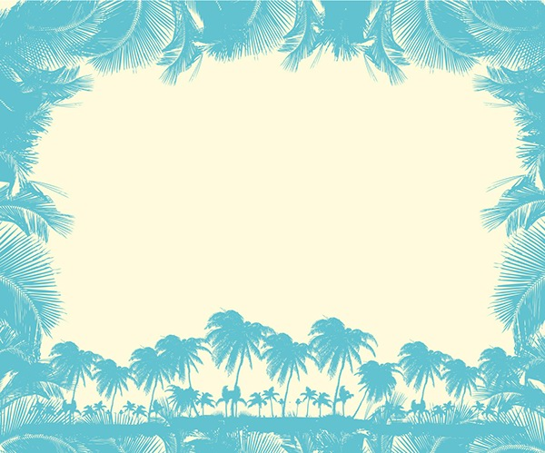 paradise palm beach vector art text box on behance