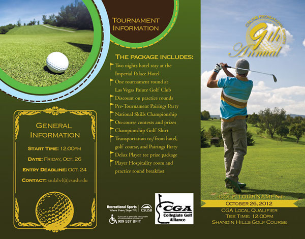 Cga Golf Tournament TriFold Borchure On Behance