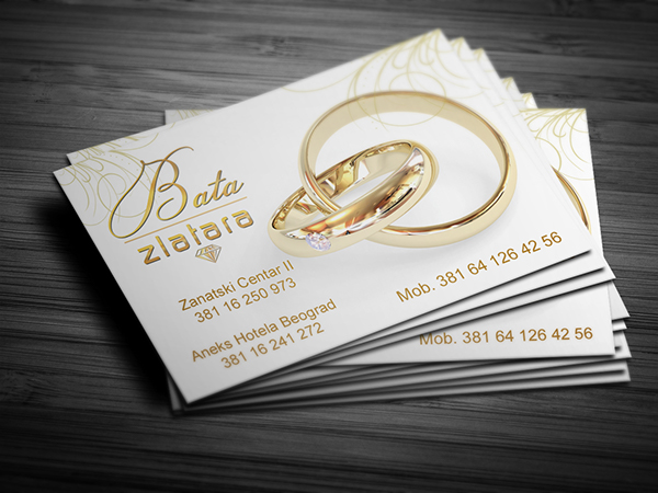 Business card design for Jewelry store on Behance
