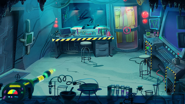 Background Paintings For 3-CISD Mad Scientist On Behance