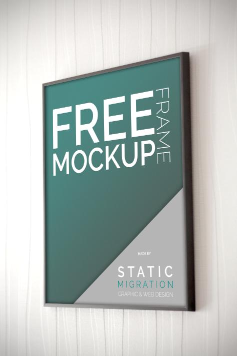 frame free Mockup psd Smart Objet