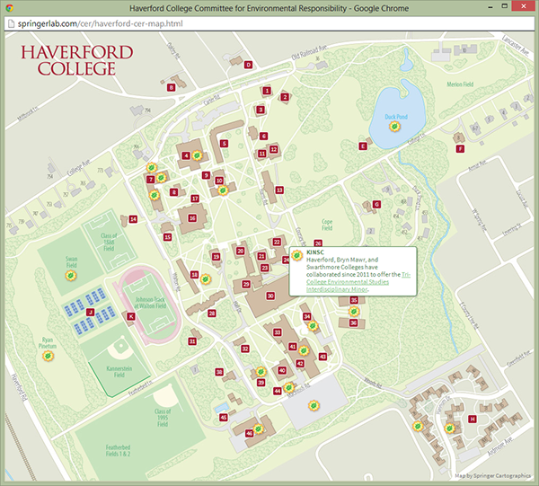 haverford college campus map Haverford College Campus Maps On Behance haverford college campus map