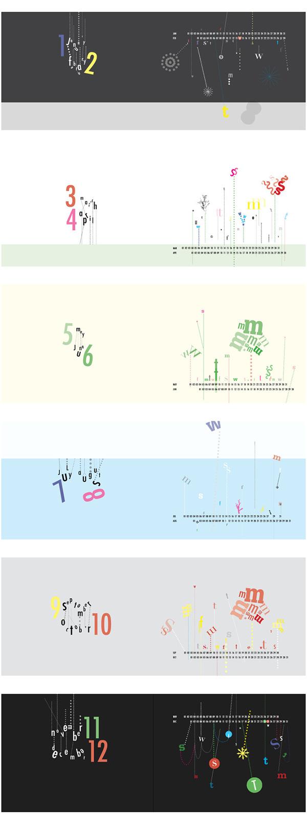 Calendar Typography S : Typographic calendar on risd portfolios