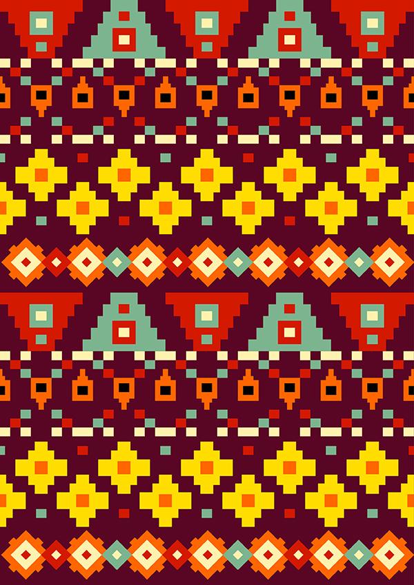 Aztec patterns on Behance