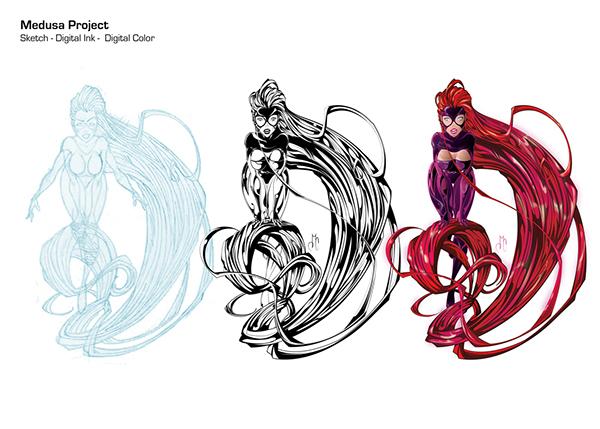 Marvel Character Design Behance : Medusa marvel character interpretation on behance