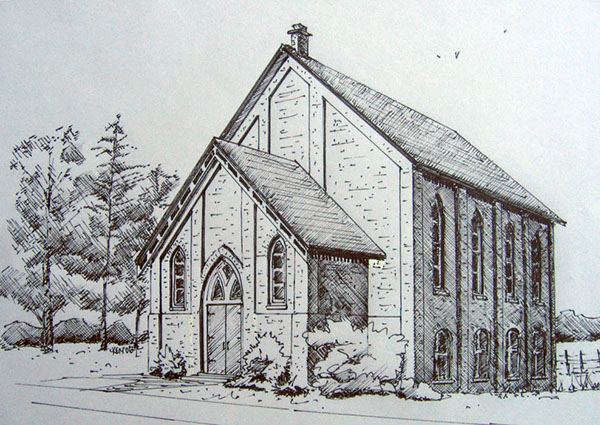 Rural CRural Chirch In The London ON Area Created From A Photograph