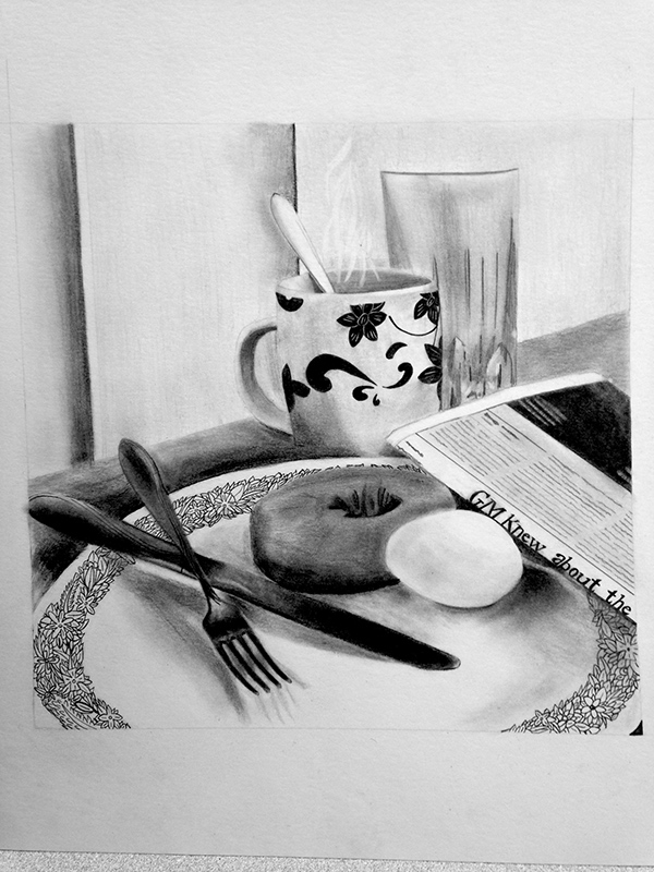 Breakfast drawing on Behance