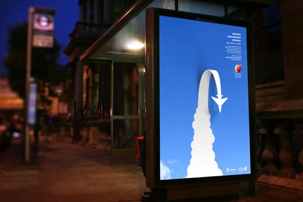 Bahrain International Airshow  billboard  citylight poster  3d poster cutout  cut out