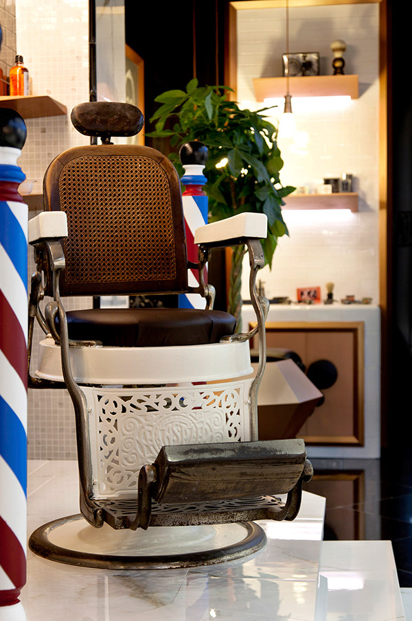 BARBER SHOP INTERIOR DESIGN CONCEPT FOR CEVISAMA - DURSTONE AMBIENCE SETTING