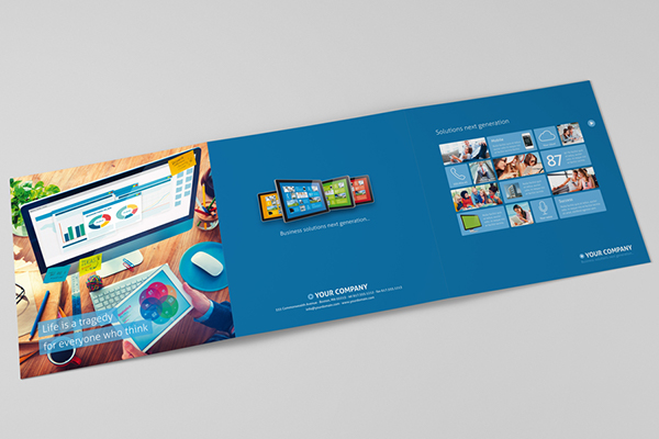 Metro Tri-Fold Sales Brochure On Behance